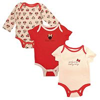 Disney's Minnie Mouse Baby Girl Long Sleeve & Short Sleeve Bodysuit Set