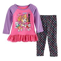 Baby Girl Paw Patrol Skye, Everest & Marshall Skirted Top & Leggings Set