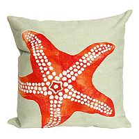 Liora Manne Visions II Starfish Indoor Outdoor Throw Pillow
