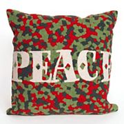 Liora Manne Visions II ''Peace'' Indoor Outdoor Throw Pillow