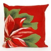 Liora Manne Visions II Poinsettia Indoor Outdoor Throw Pillow