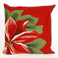 Liora Manne Visions II Poinsettia Indoor Outdoor Throw Pillow