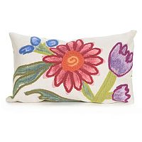 Liora Manne Visions III Gypsy Flower Indoor Outdoor Oblong Throw Pillow