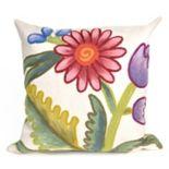 Liora Manne Visions III Gypsy Flower Indoor Outdoor Throw Pillow