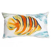 Liora Manne Visions III Angel Fish Indoor Outdoor Oblong Throw Pillow