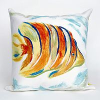 Liora Manne Visions III Angel Fish Indoor Outdoor Throw Pillow