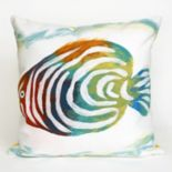 Liora Manne Visions III Rainbow Fish Indoor Outdoor Throw Pillow