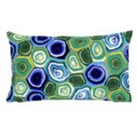 Liora Manne Visions III Murano Swirl Indoor Outdoor Oblong Throw Pillow