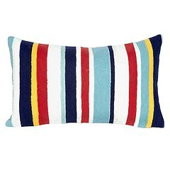Liora Manne Visions III Riviera Stripe Indoor Outdoor Oblong Throw Pillow