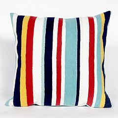 Liora Manne Visions III Riviera Stripe Indoor Outdoor Throw Pillow
