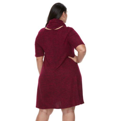 Plus Size Apt. 9®  A-line Scarf Sweater Dress