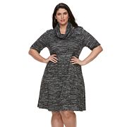 Plus Size Apt. 9®  A-line Scarf Sweater Dress