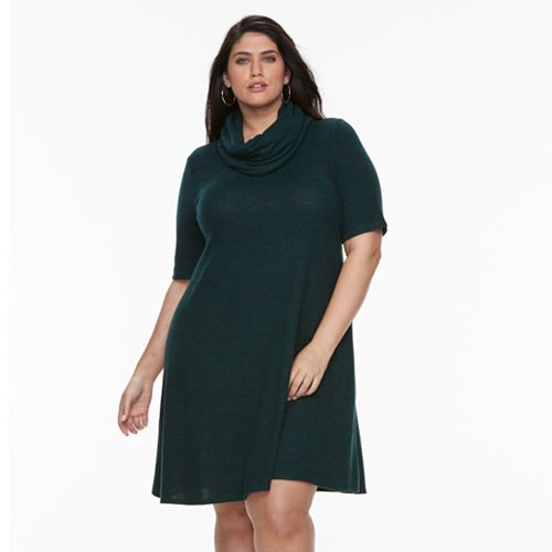 Plus Size Apt 9 A Line Scarf Sweater Dress