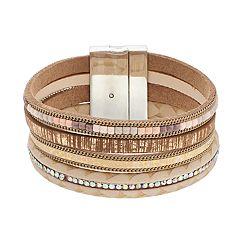 Beaded Magnetic Single Clasp Bracelet