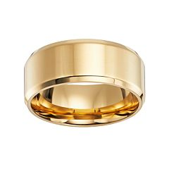 Lovemark 14k Gold-Over-Stainless Steel Wedding Band