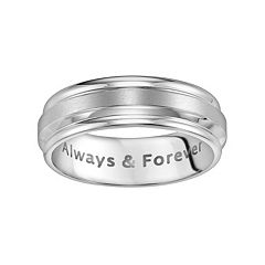 Lovemark Stainless Steel Always and Forever Men's Wedding Band