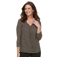 Women's Dana Buchman Pleated Mixed-Media Top