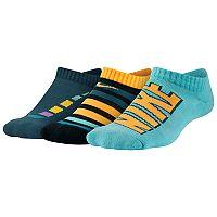 Boys Nike 3-Pack Performance No-Show Socks