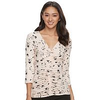 Juniors' Candie's® Ruched Print Top