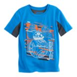 Boys 4-7x Star Wars BB-8 Mesh Glow in the Dark Tee