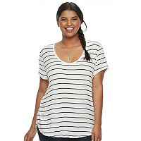 Juniors' Plus Size SO® Perfect Striped Tee