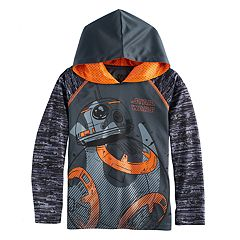 Boys 4-7x Star Wars BB-8 Abstract Mesh Hoodie