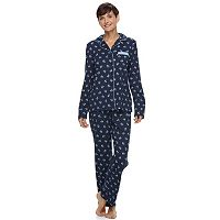 Women's Croft & Barrow® Patterned Knit Pajama Set