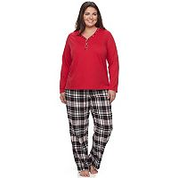 Plus Size Croft & Barrow® Plaid Pajama Set