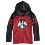 "Boys 4-7x Star Wars ""First Order"" Stormtroopers Foiled Raglan Hoodie"