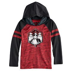 Boys 4-7x Star Wars 'First Order' Stormtroopers Foiled Raglan Hoodie