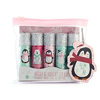 Simple Pleasures 5-pc. Merry & Bright Penguin Lip Balm Set