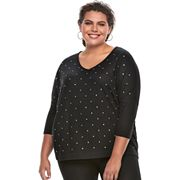 Plus Size Jennifer Lopez Embellished Dolman Top