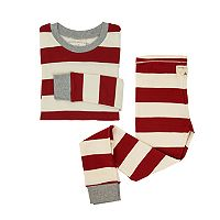 Kids 4-16 Burt's Bees Organic Holiday Patterned Top & Pants Family Pajama Set
