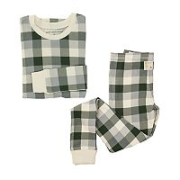 Kids 4-16 Burt's Bees Organic Holiday Buffalo Plaid Top & Pants Family Pajama Set