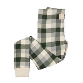 Kids 4-16 Burt's Bees Organic Holiday Buffalo Plaid Top & Pants Family Pajama Set