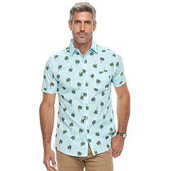 Men's Haggar Island Ease Classic-Fit Stretch Button-Down Shirt
