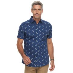 Men's Haggar Island Ease Classic-Fit Stretch Button-Down Shirt
