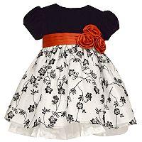 Baby Girl Bonnie Jean Velvet Floral Dress