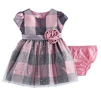 Baby Girl Bonnie Jean Plaid Sparkle Dress