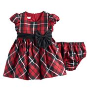 Baby Girl Bonnie Jean Red Plaid Dress