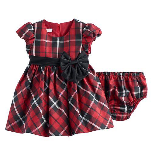 cb69220945f Baby Girl Bonnie Jean Red Plaid Dress