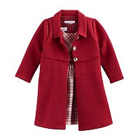 Baby Girl Bonnie Jean Plaid Dress & Jacket Set