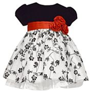 Toddler Girl Bonnie Jean Velvet Floral Dress