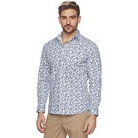 Men's Marc Anthony Slim-Fit Stretch Woven Button-Down Shirt