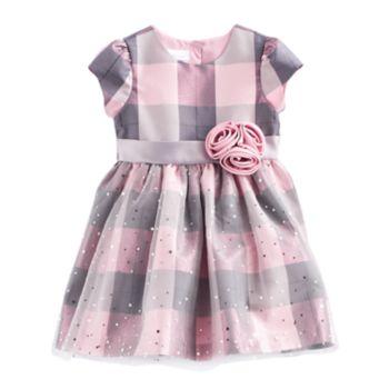 Toddler Girl Bonnie Jean Plaid Sparkle Dress