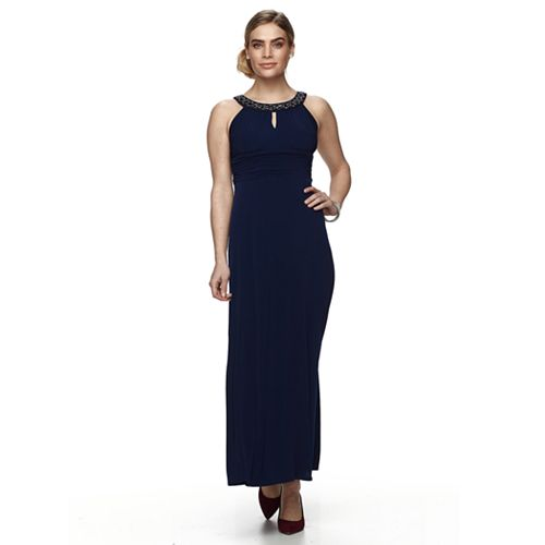 Petite Chaya Embellished Neck Maxi Dress