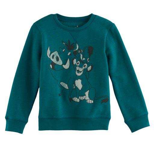 Disney's The Lion King Boys 4-7x Timon & Pumbaa Softest Fleece Pullover Sweatshirt by Jumping Beans®