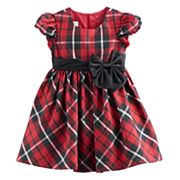 Toddler Girl Bonnie Jean Red Plaid Sparkle Dress