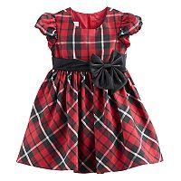 Toddler Girl Bonnie Jean Red Plaid Sparkle Dress