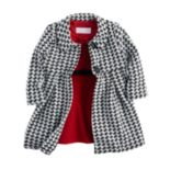 Toddler Girl Bonnie Jean Houndstooth Coat & Dress Set